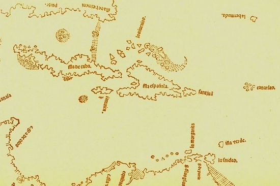 1511 map including Bermuda top right