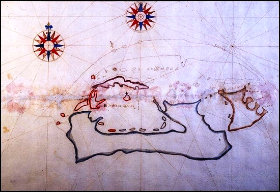 1603 Map of Bermuda by Captain Diego Ramirez