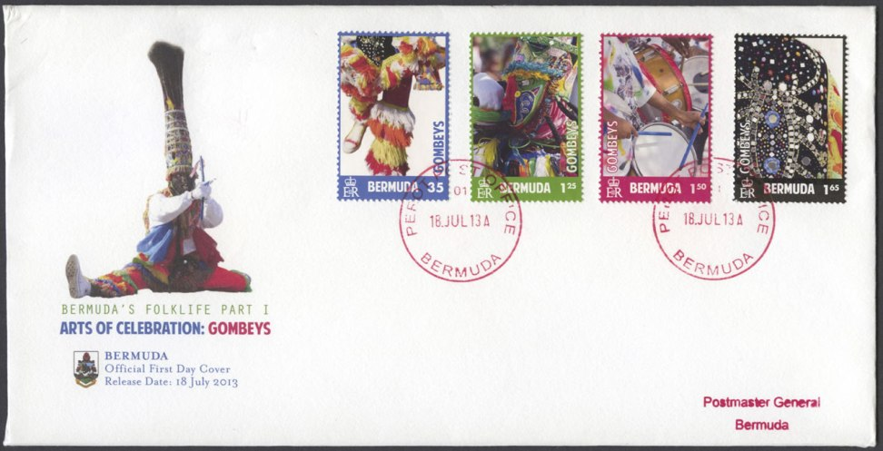 2013 July 18 Bermuda Gombey stamps