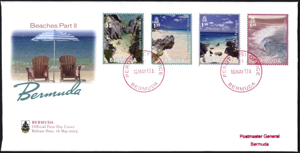 2013 May 16 Bermuda beach stamps pt 2
