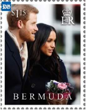 2018 Royal Wedding postage stamp