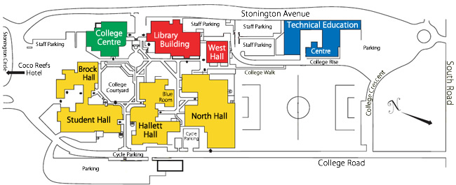 Bermuda College map