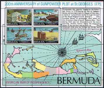Bermuda Gunpowder Plot August 1775