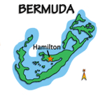 Hamilton, most central of Bermuda's cruise ship ports