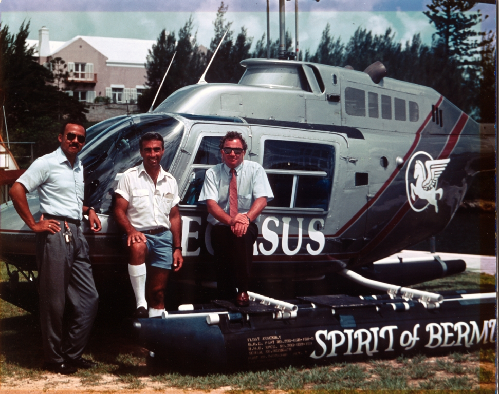 Bermuda Helicopters with Herman, Mike and Chris