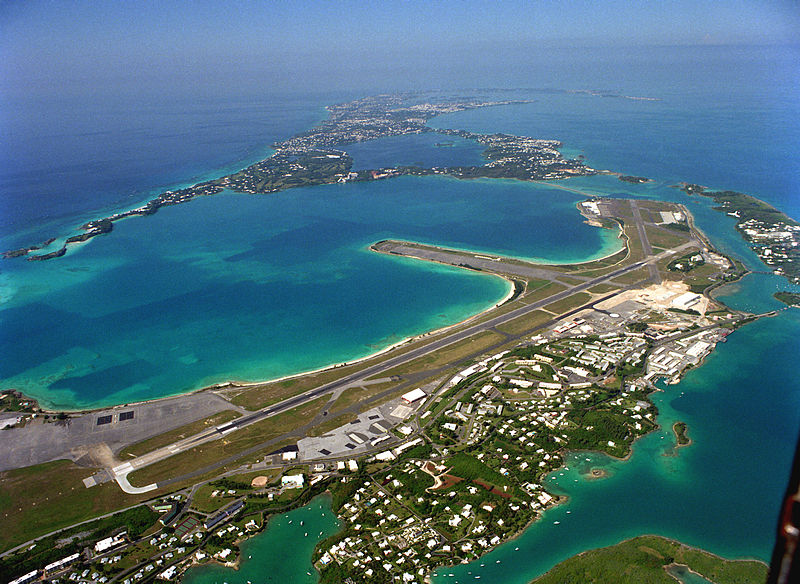 Bermuda  International Airport Runway 1993 USN photo