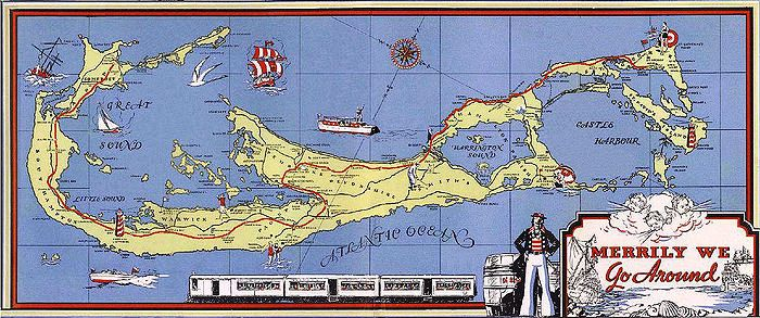Bermuda  Railway tourism map 1931