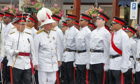 Bermuda Regiment being inspected by the Governor