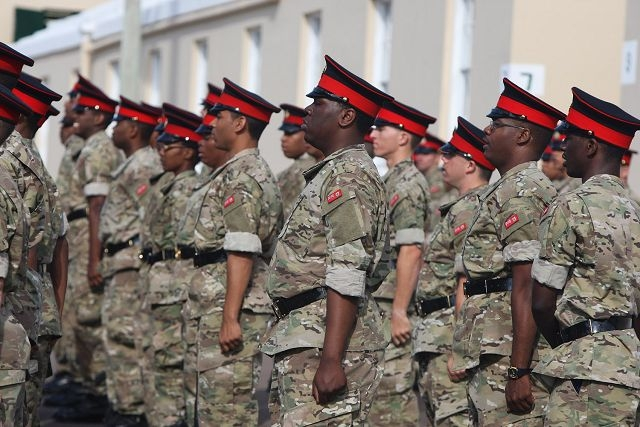 Bermuda Regiment on parade