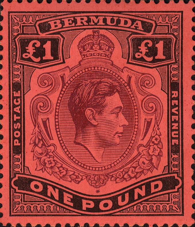 Bermuda stamp 1st November 1937