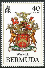 Warwick Parish stamp