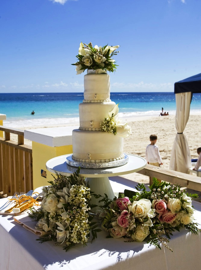 Bermuda wedding cake