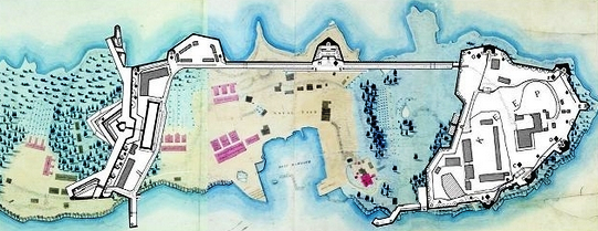 Dockyard fortifications 1840s