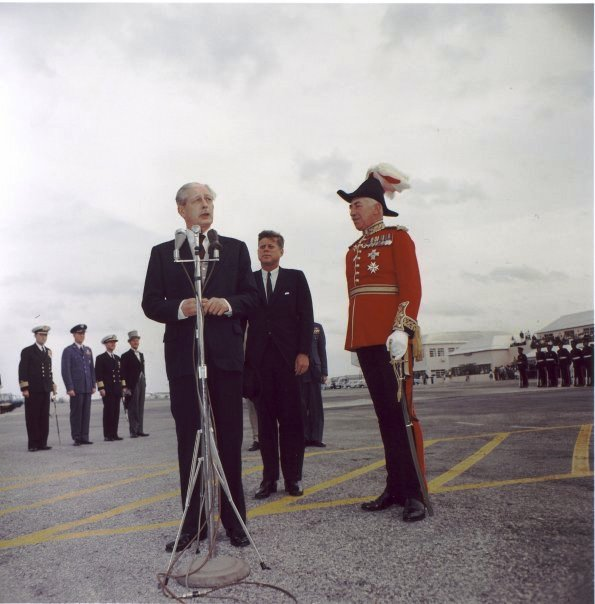 Kennedy and Macmillan in Bermuda 1961 a