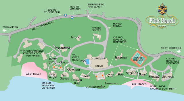 Pink Beach Club map