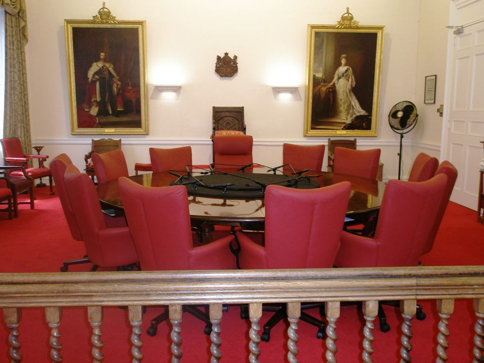 Senate Chamber and royal portraits