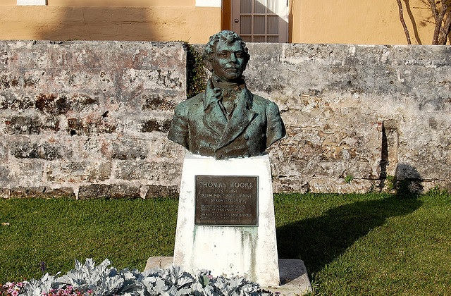 His monument in St. George's
