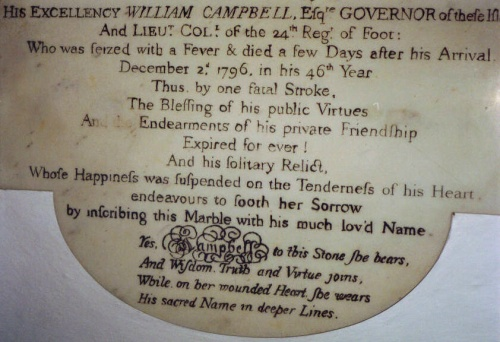 Governor William Campbell plaque