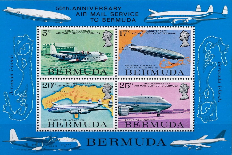 aviation 1987 Bermuda postage stamps