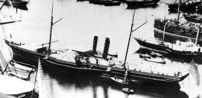 Advance Confederate ship