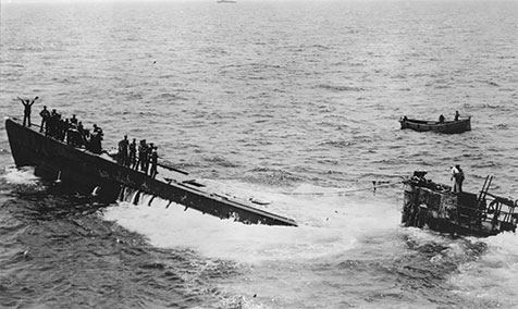 Capture of German U-boat 505 by US Navy