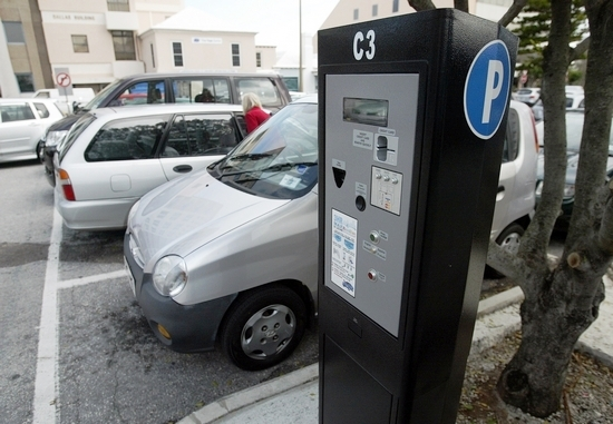 City of Hamilton car park showing ticket machine