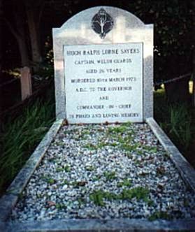Grave of assassinated aide the the Governor, Captain Hugh Sayer