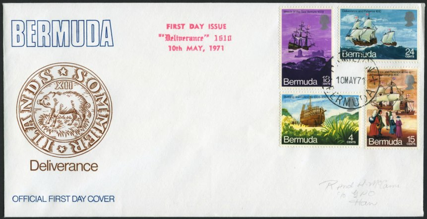 1971 First Day Cover and postage stamps of Deliverance