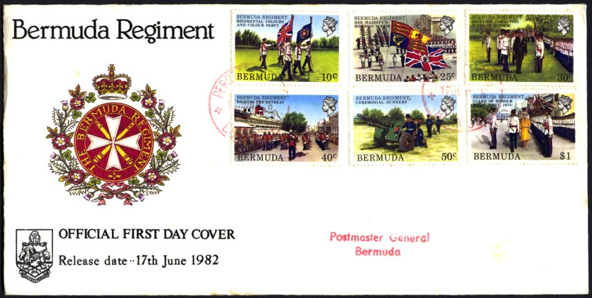 1982 Bermuda Regiment stamps