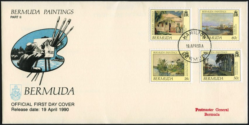 1990 postage stamps from Masterworks Paintings