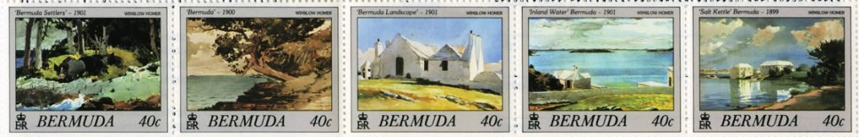 1987 Winslow Homer Bermuda postage stamps