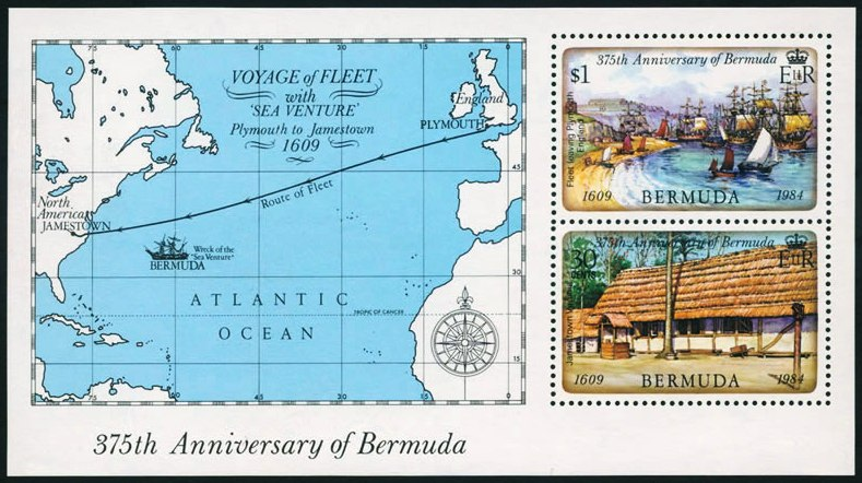 375th anniversary of founding of Bermuda 2