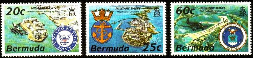 Bermuda military bases postage stamps 2