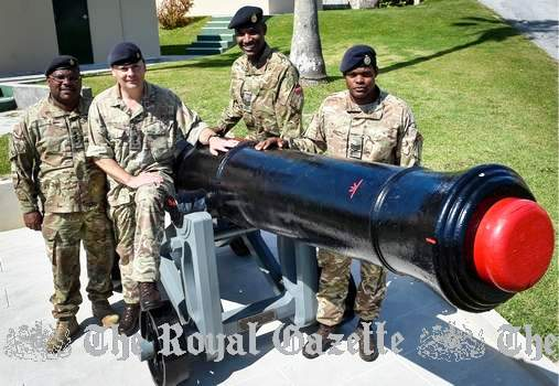 regiment's historic cannon