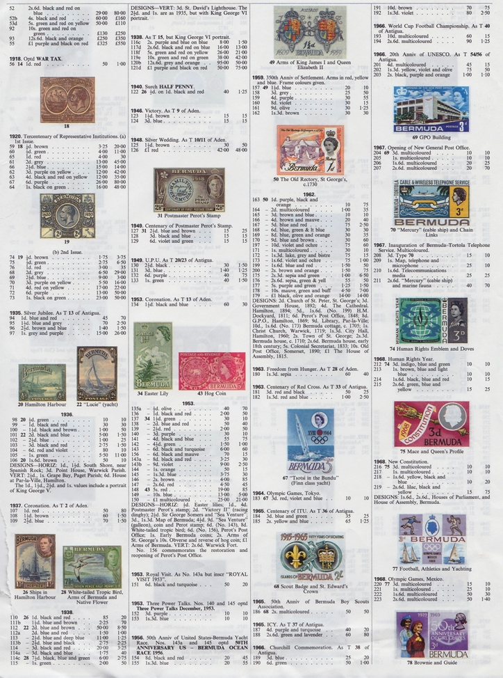 Bermuda stamp catalog 02