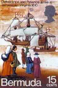 Bermuda ships arrive in Virginia 1610 to relieve Jamestown